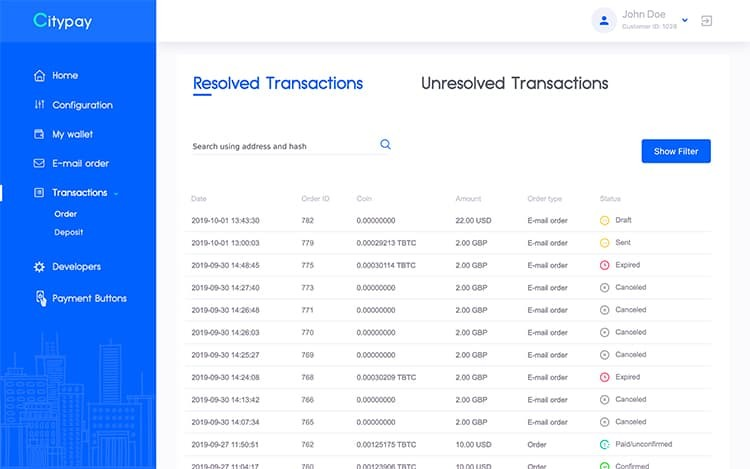 View of Transactions