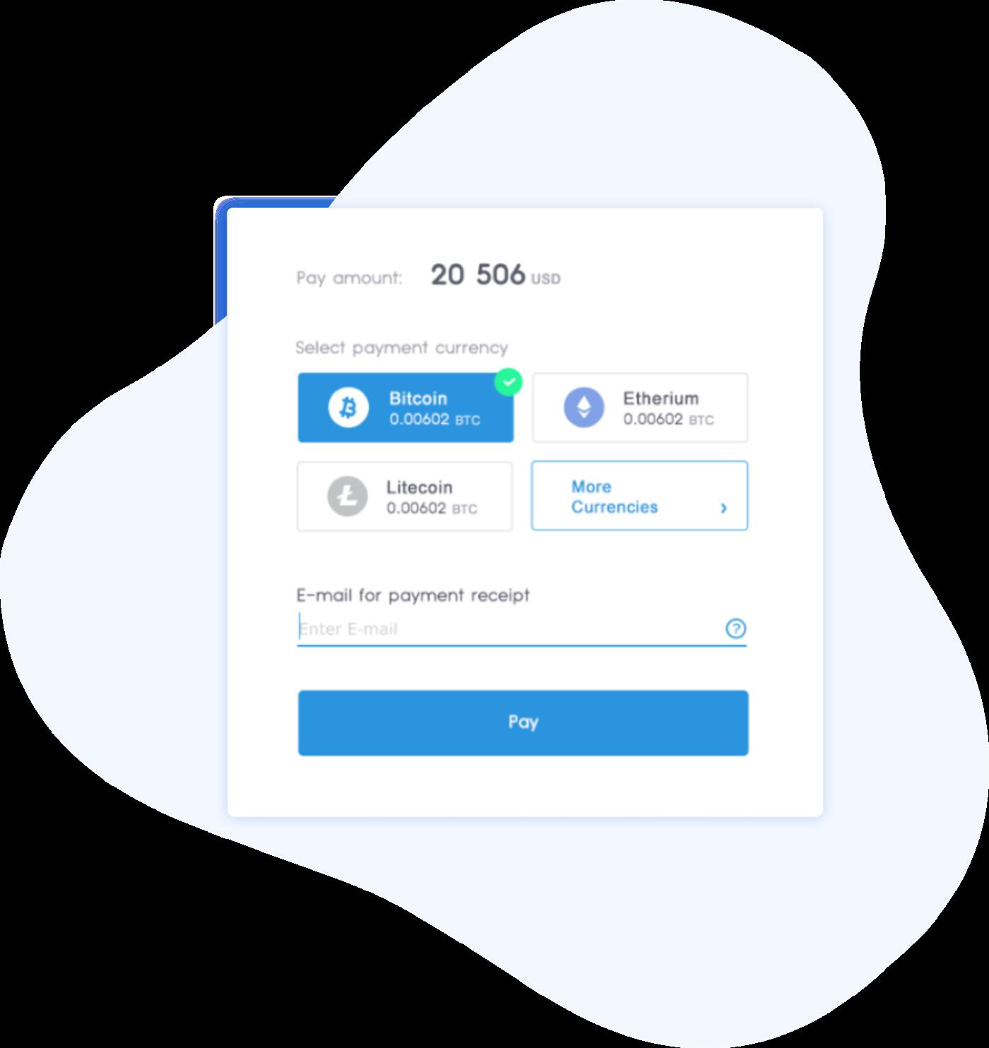 Screenshot of payment popup
